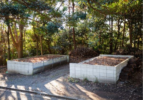 資源再活用の取組(2)腐葉土